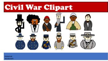 Civil War Soldiers, Politicians and Abolitionist Clipart.