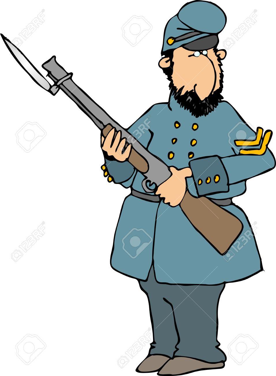 Civil war soldier clipart 2 » Clipart Station.