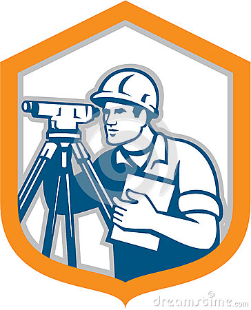 Surveying Instrument And Engineer Stock Photo.