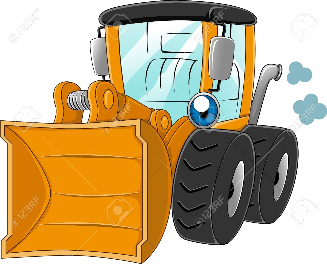 Illustration Of A Wheel Loader At Work Stock Photo, Picture And.