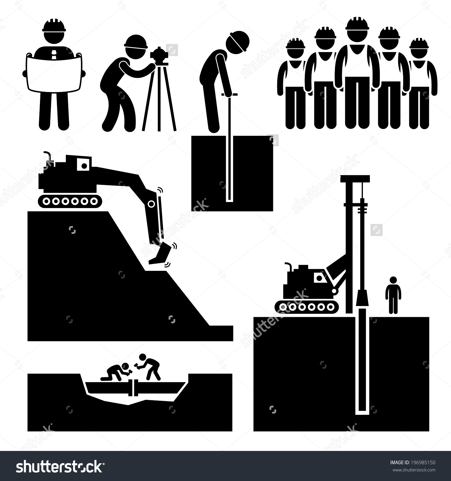 Civil engineer at work clipart.