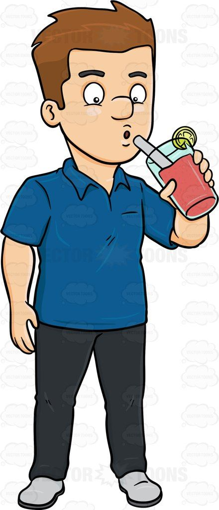 A Man Sips On A Glass Of Drink.