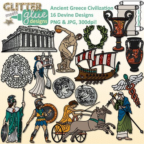 Ancient Greece Clip Art {Civilization and Culture on the.
