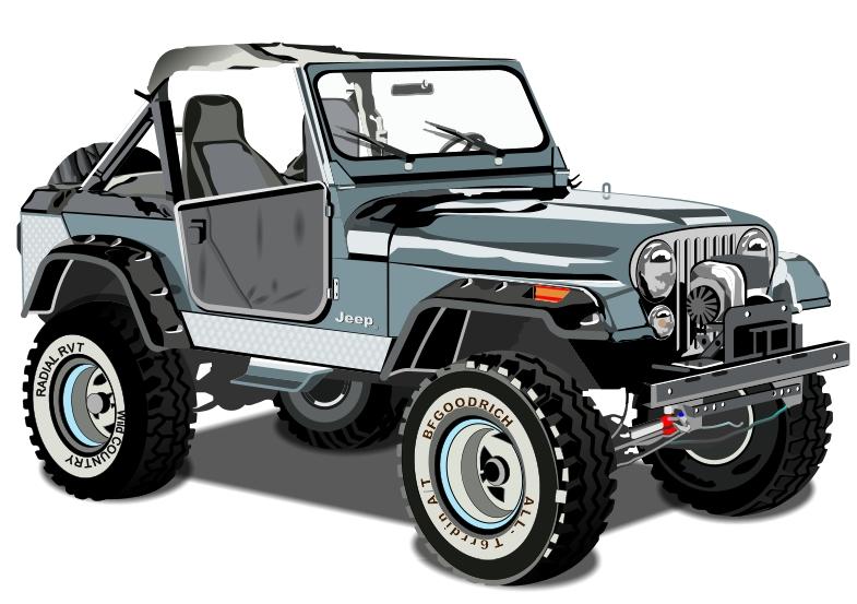 Jeep cj clipart.