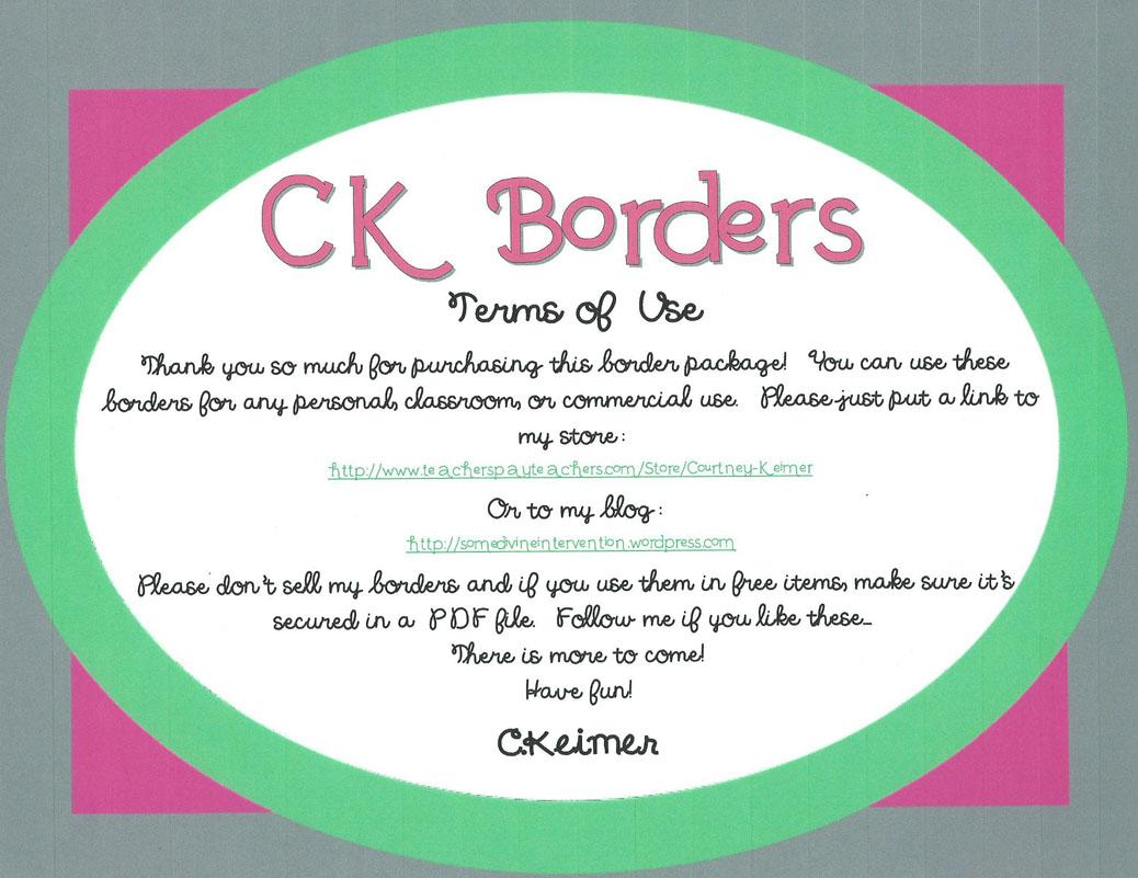 CK Borders Clipart.