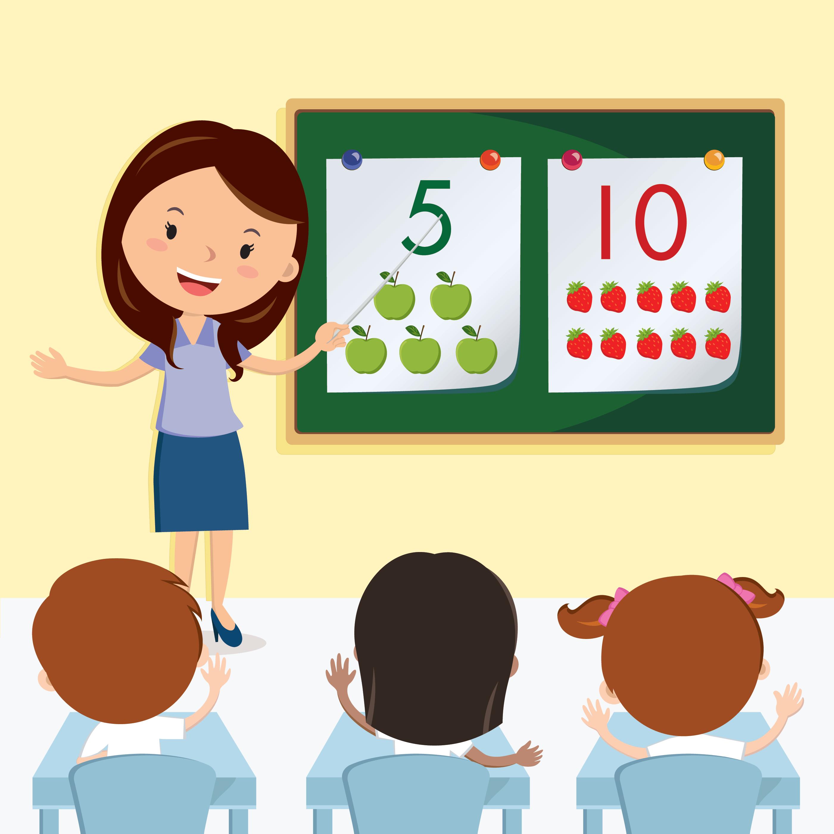 Teacher Teaching in the Class.