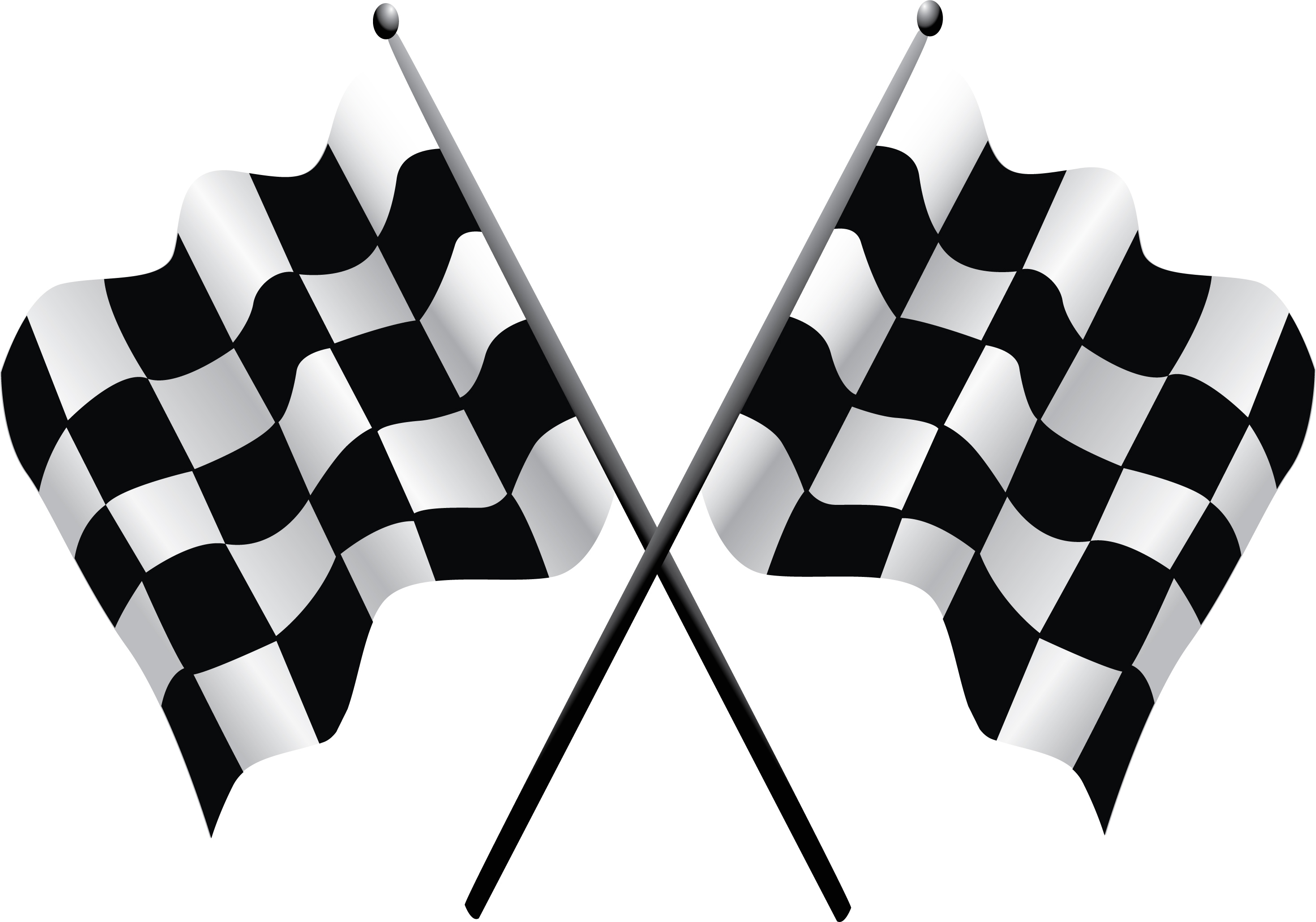 Transparent Checkered Flag Clipart.