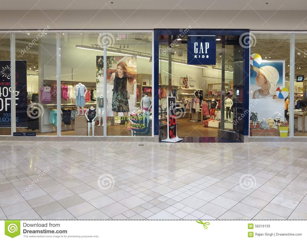 GAP Clothing Store Editorial Stock Photo.