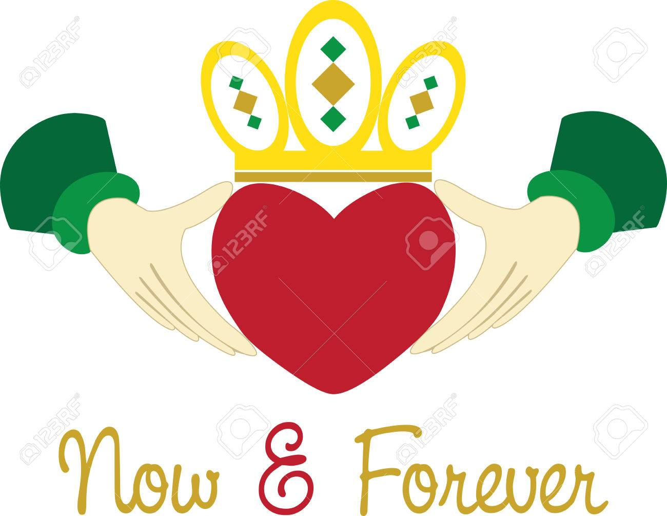 The Claddagh ring is a traditional Irish ring given which represents...