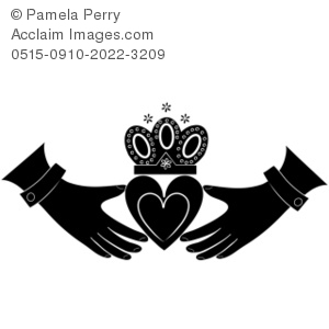 Black and White Claddagh Design Royalty.