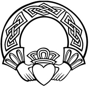 Collection of Claddagh clipart.