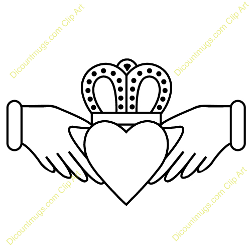 Clipart 11949 Claddagh With Intricate Crown.