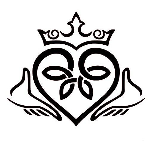 Claddagh Celtic Knot Heart Vinyl Decal, fáinne Chladaigh sticker, Love,  Loyalty, and Friendship Decal, Irish Wall Art.