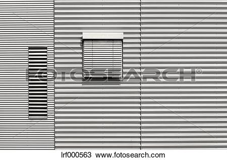 Stock Photo of Germany, Munich, House front with aluminium.