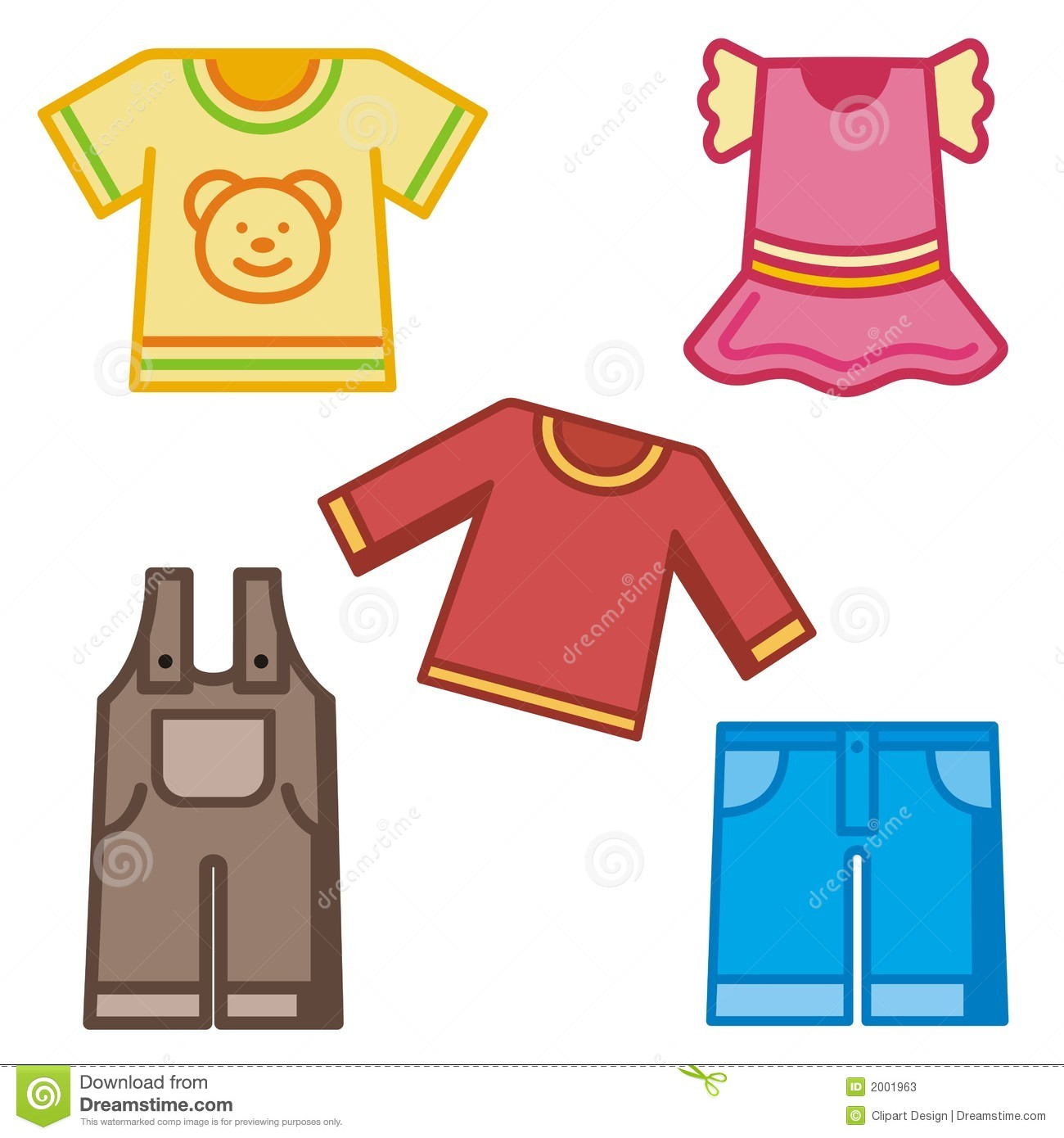 Children's clothing clipart