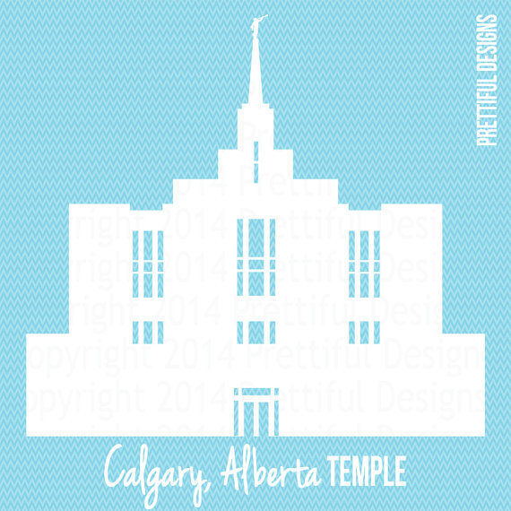 Calgary Alberta Temple Canada LDS Mormon Clip Art.