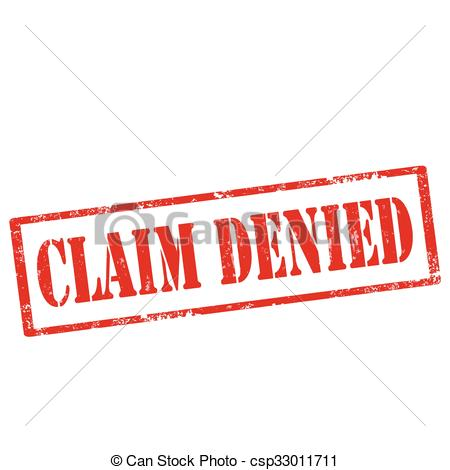 Vector Clip Art of Claim Denied.