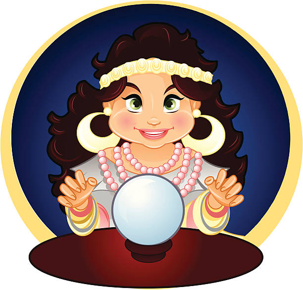 Best Psychic Crystal Ball Illustrations, Royalty.