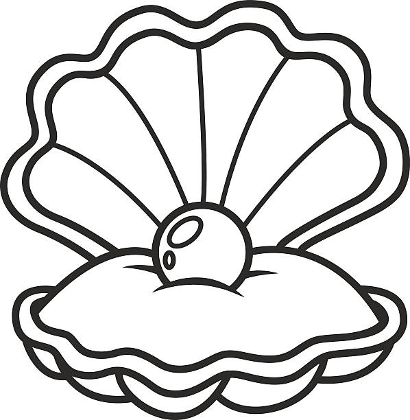 Clam clipart black and white 2 » Clipart Station.