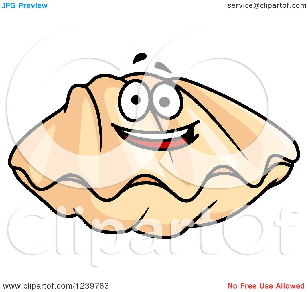 Happy Clam Clipart.