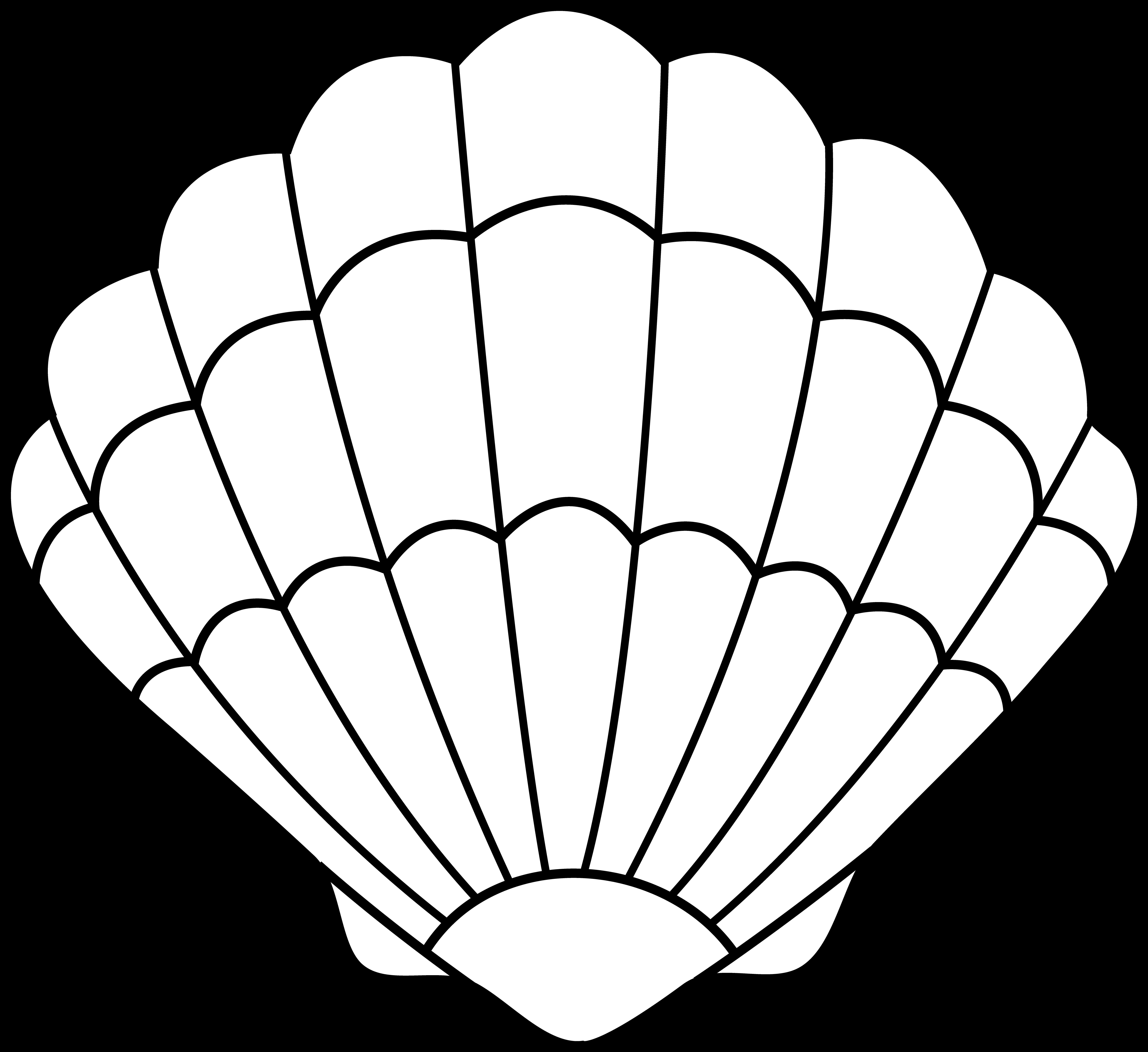 Colorable Seashell.