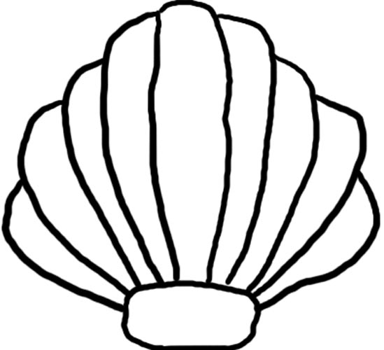 Clam Shell Black Clipart.
