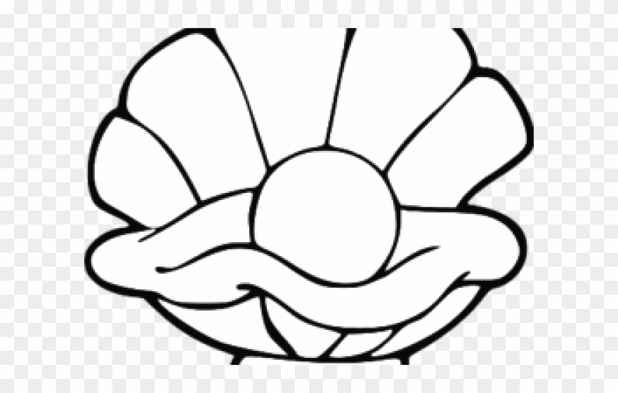 Pearl Clipart Clamshell.