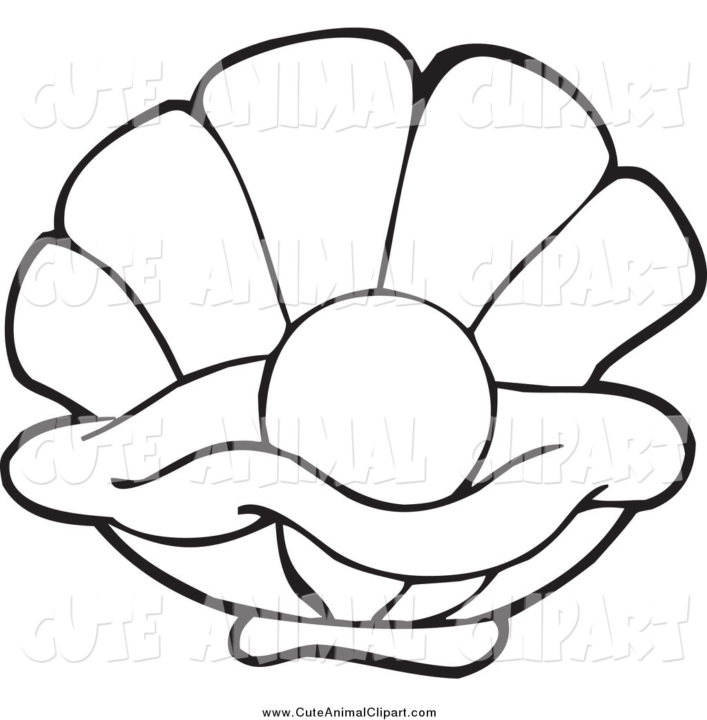 Clam with Pearl Clipart.