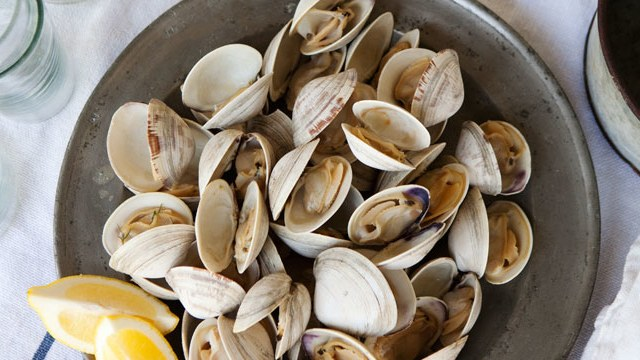 Grilled Clams with Herb Butter.
