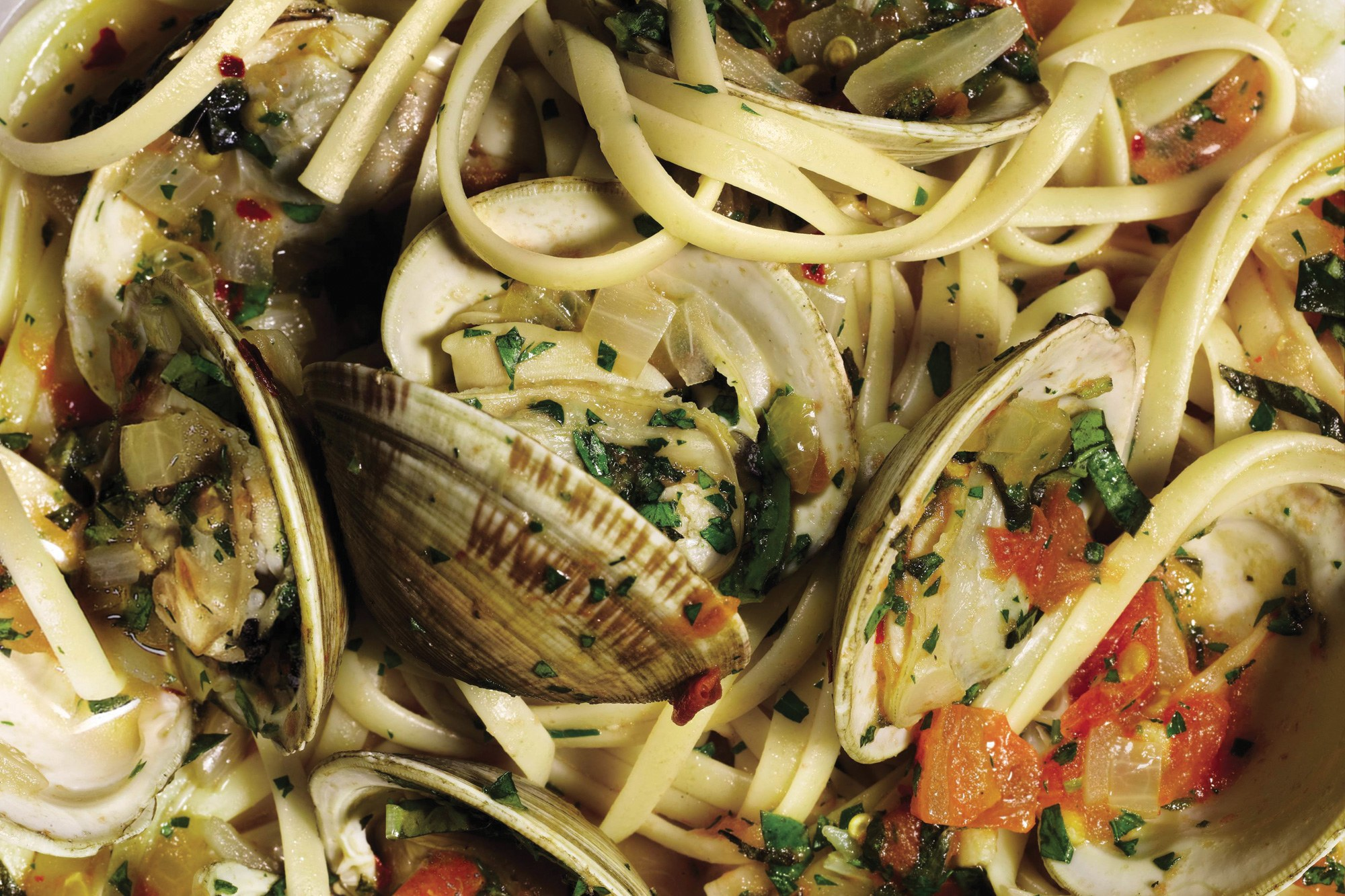 Linguine with Herb Broth and Clams recipe.