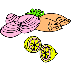 Fish & Clams clipart, cliparts of Fish & Clams free download (wmf.