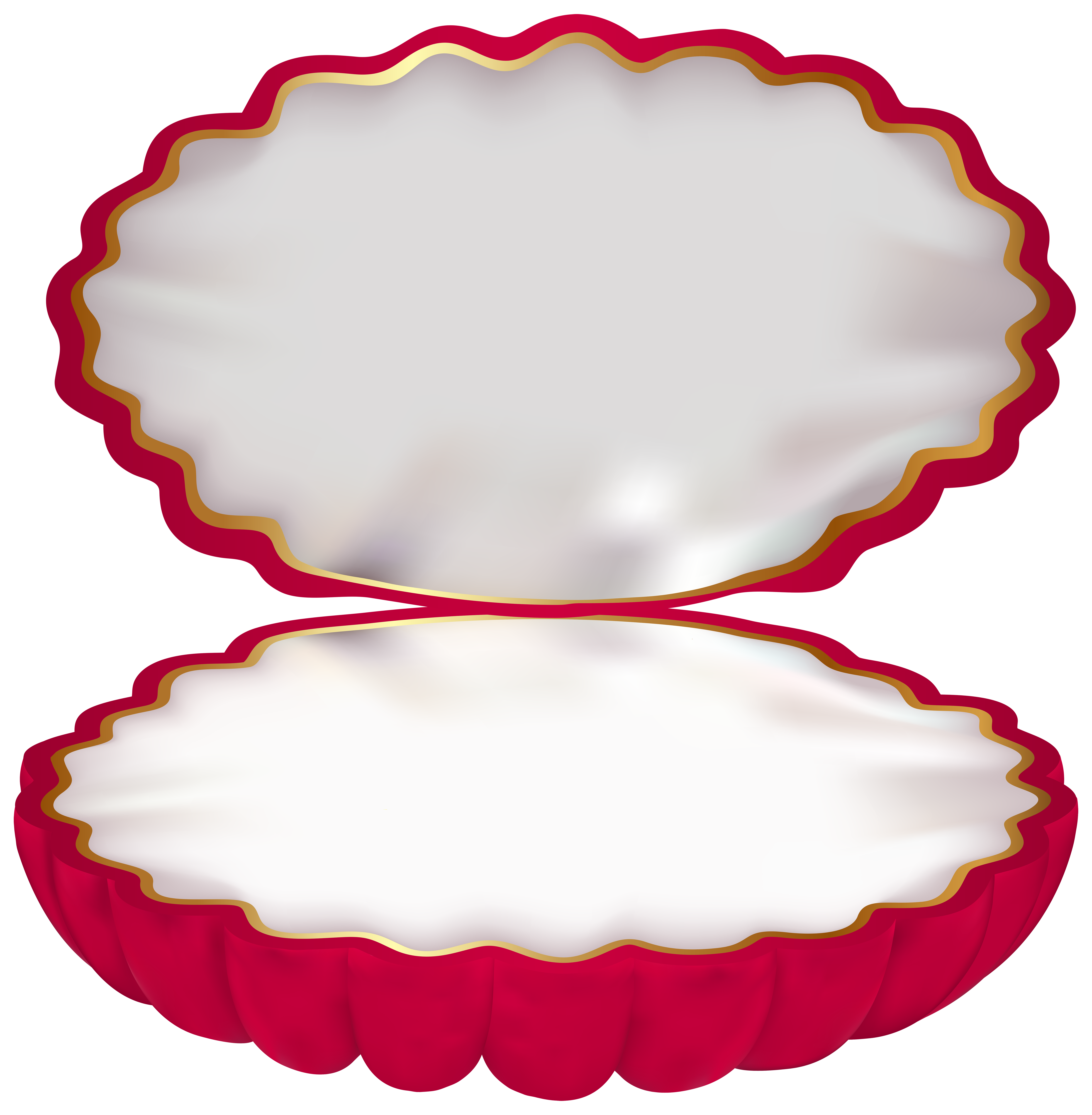 Clamshell Jewelry Box PNG Clip Art Image.