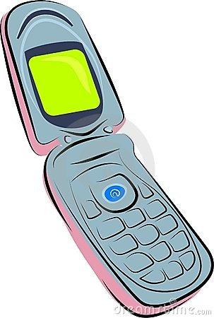 Flip phone clipart.