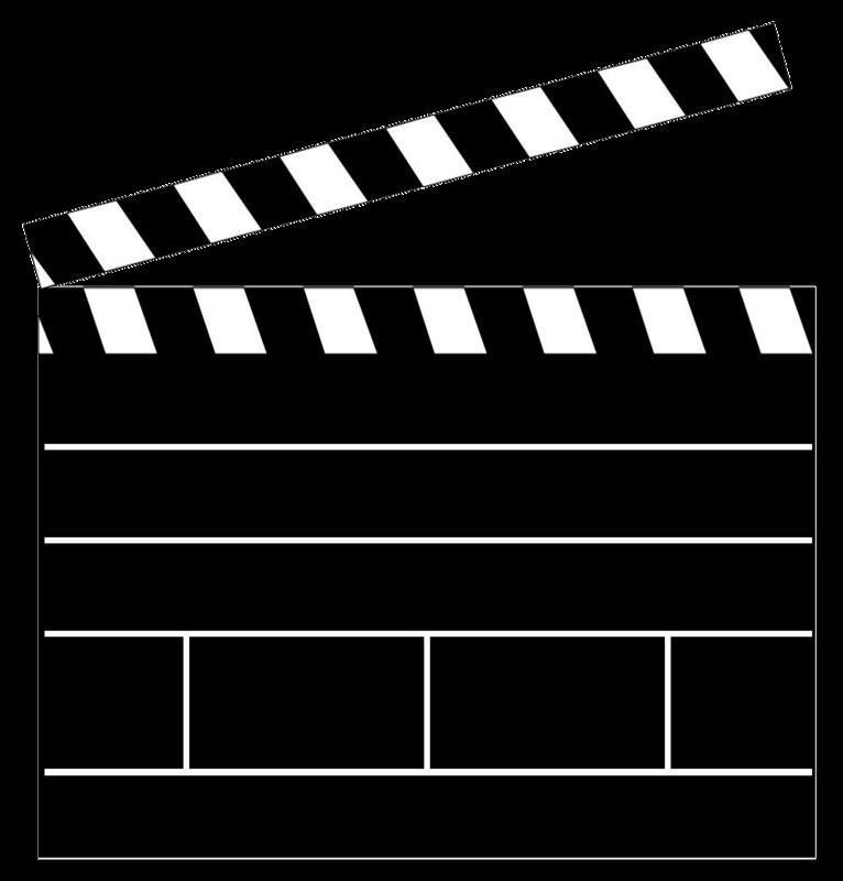 Movie clapboard clipart.