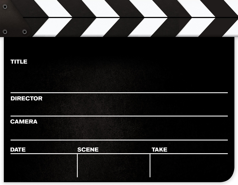 Director's cut board clipart.
