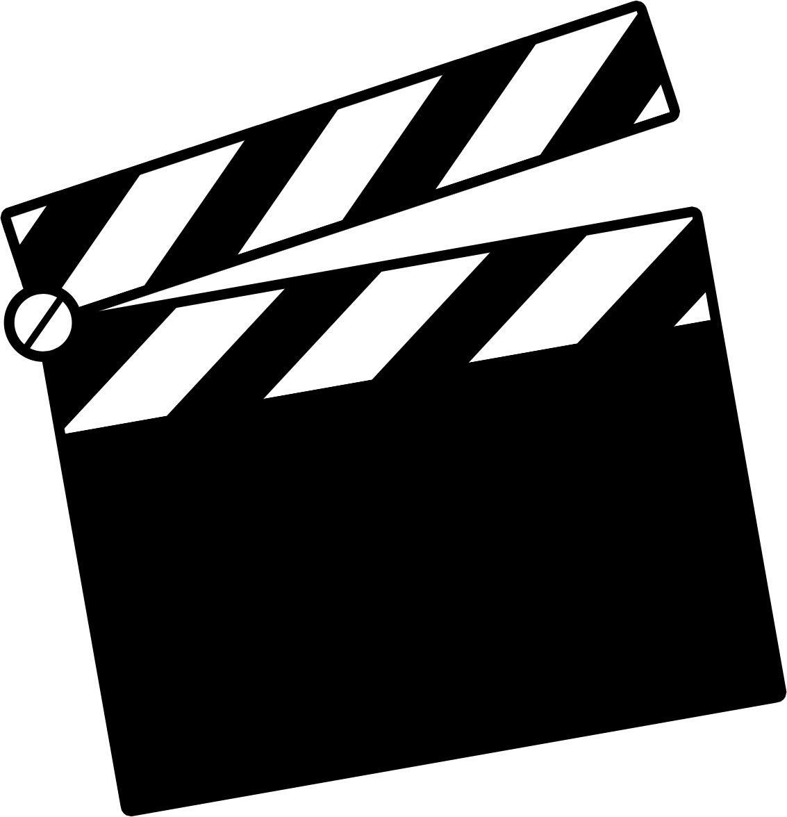 Movie Clapper Board Clipart.
