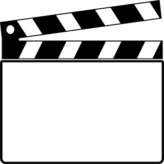 Movie clapper board clip art.