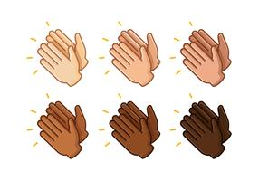 Hands Clapping Free Vector Art.