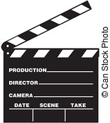 Clapboards clipart #1