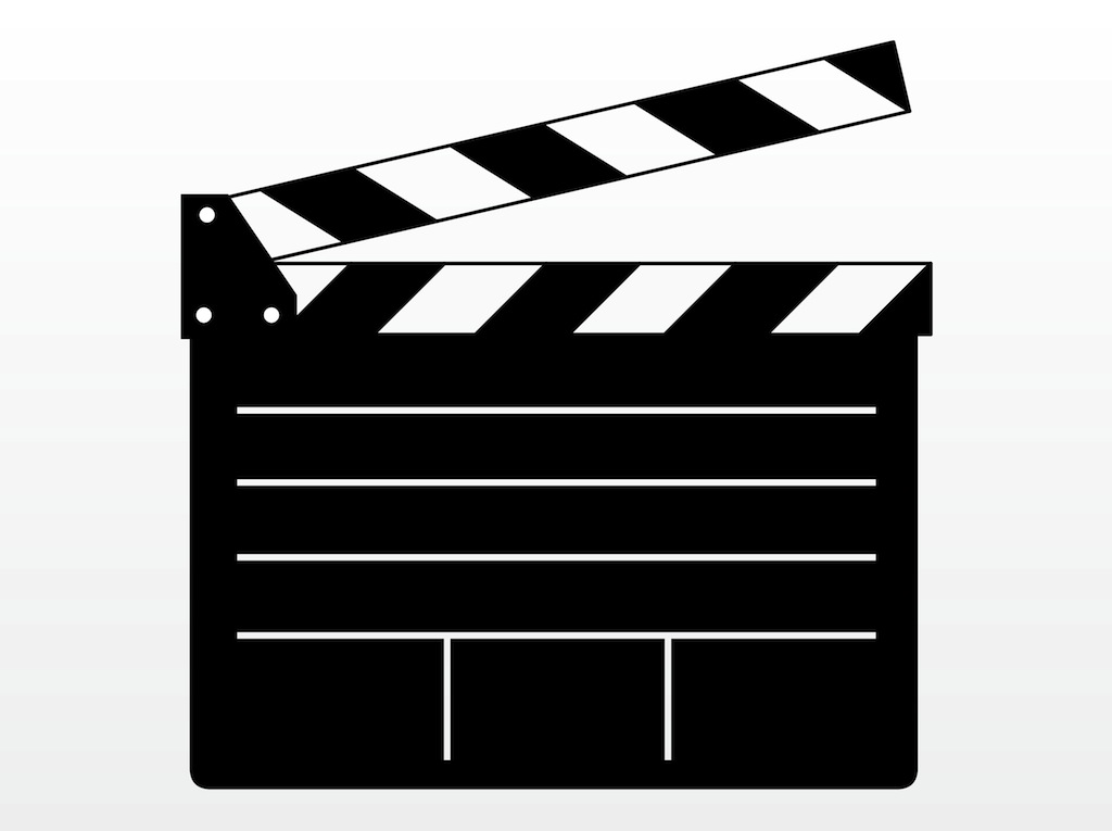 Movie clapboard clipart.