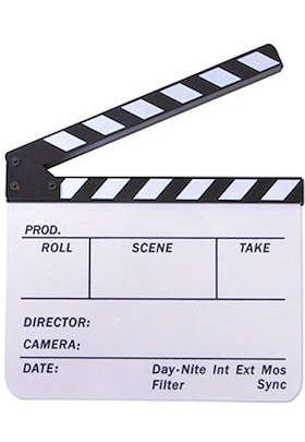 Using a Film Clapboard.