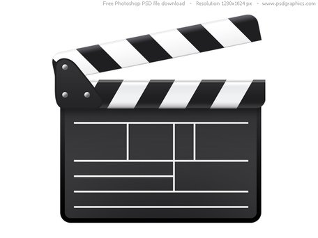 PSD movie clapboard icon Clipart Picture Free Download.
