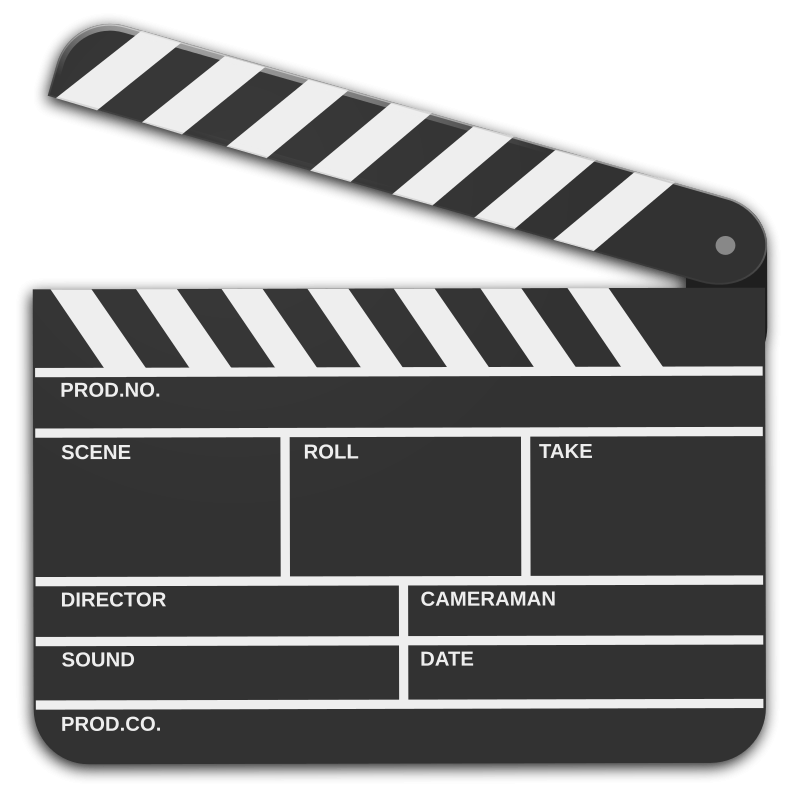 Free to Use & Public Domain Clapper Board Clip Art.