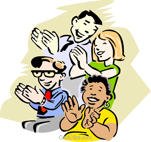 Audience Clapping Royalty Free Vector Clip Art illustration.