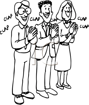 People Clapping Hands Clipart.