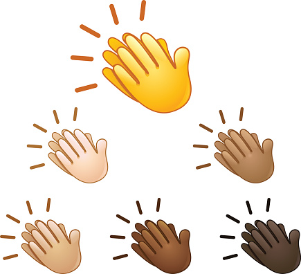 Clapping hand clip art.