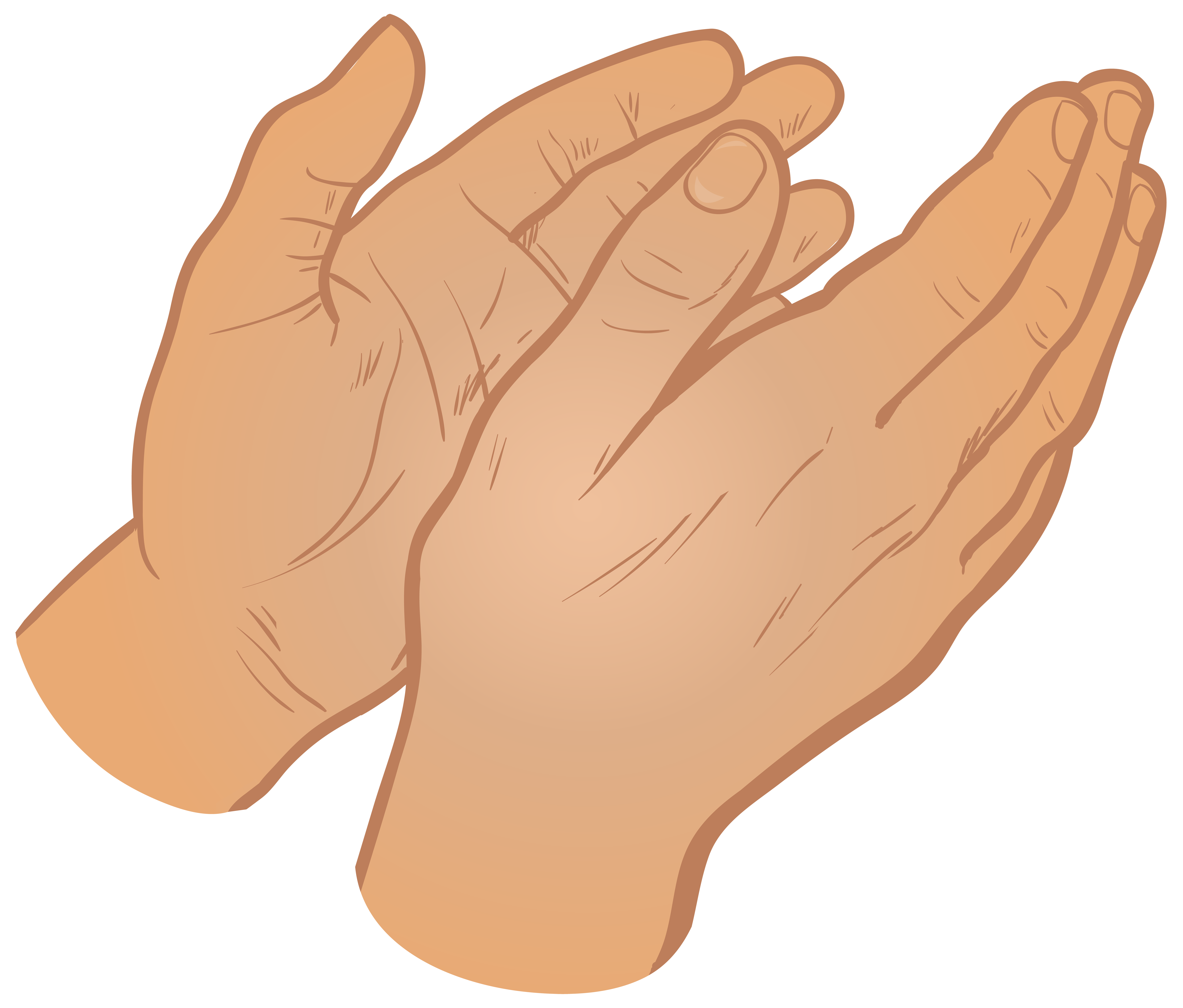 Clapping Hands PNG Clip Art Image.