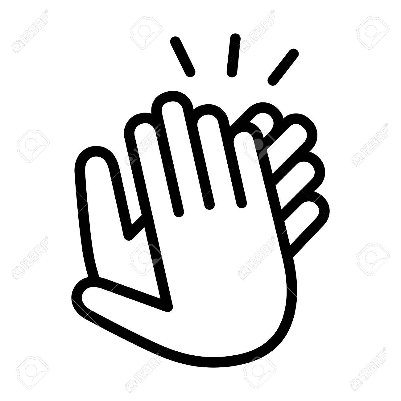 Clapping hands clipart black and white 1 » Clipart Portal.