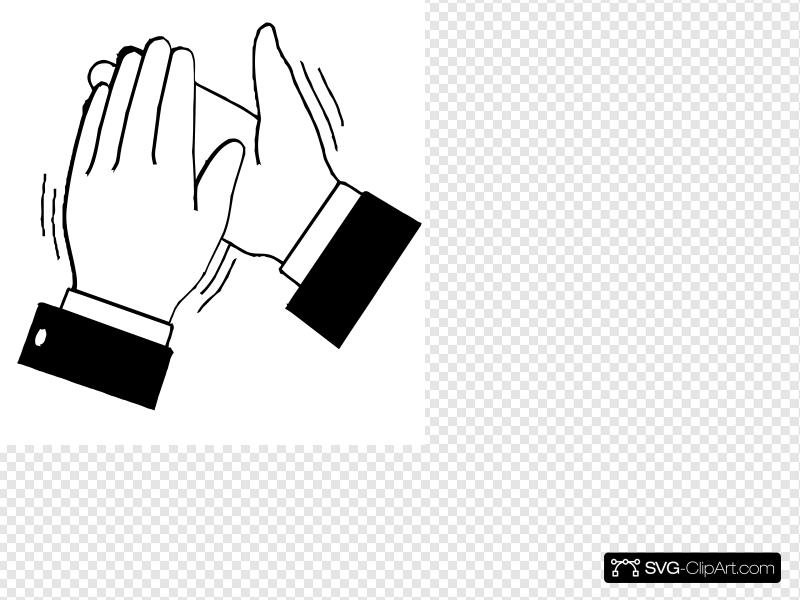 Black & White Clapping Hands Clip art, Icon and SVG.