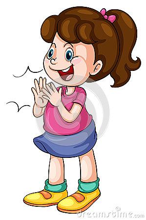 Kids clapping hands clipart.
